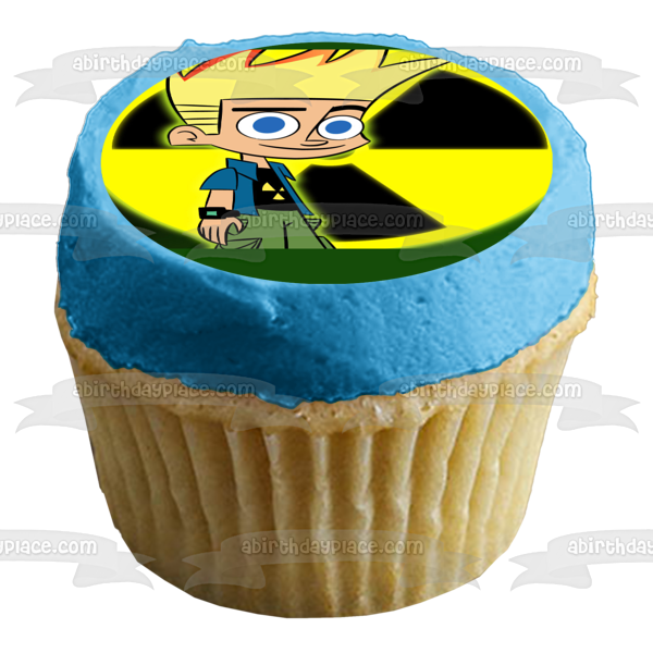 Johnny Test Radioactive Logo Edible Cake Topper Image ABPID04253