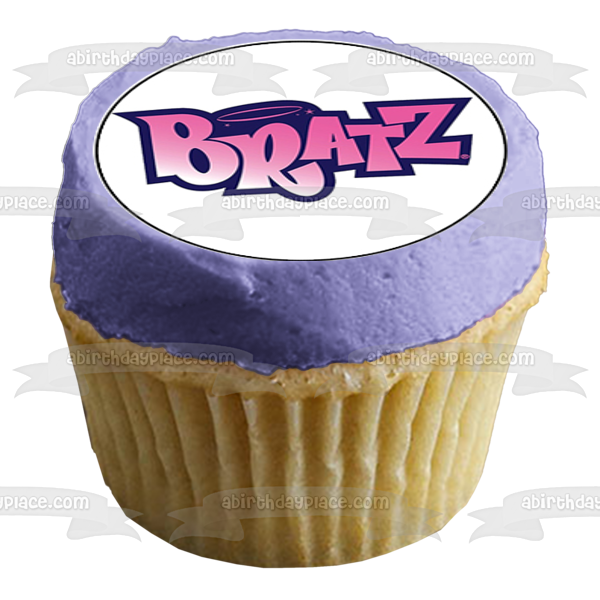 Bratz Dolls Pink Logo 9 Count Cupcake Toppers or Strips Edible Cupcake Topper Images ABPID53494