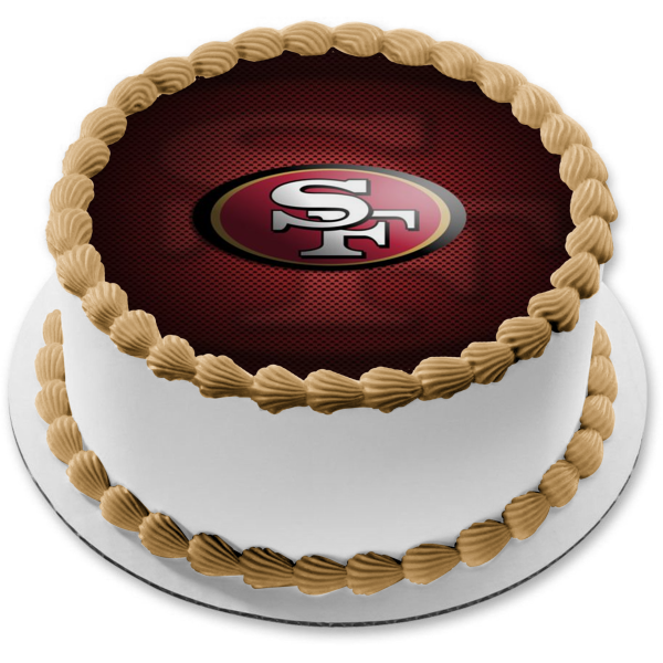 San Francisco 49ers Professional American Football NFL Edible Cake Topper Image ABPID04257