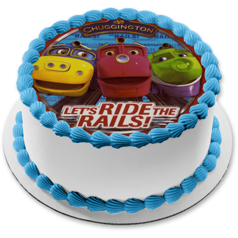 Chuggington Locomotives Wilson Brewster Koko Let's Ride the Rails Edible Cake Topper Image ABPID06215
