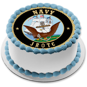 US Navy Junior Reserve Officers Training Corps JROTC Emblem Edible Cake Topper Image ABPID04370