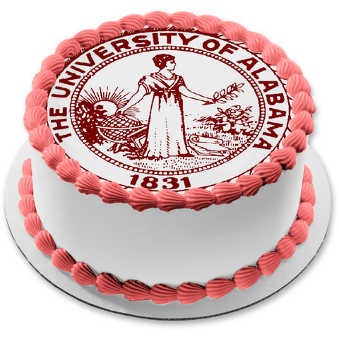 The University of Alabama 1831 Seal Edible Cake Topper Image ABPID04611