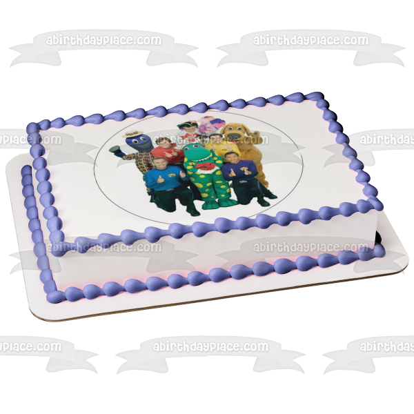 The Wiggles Greg Anthony Murray Jeff Dorothy the Dinosaur Captain Featherswood Edible Cake Topper Image ABPID06482