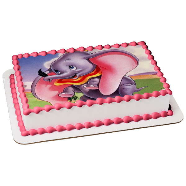 Disney Dumbo Flying Magical Ability Edible Cake Topper Image ABPID07943-1//2 sheet