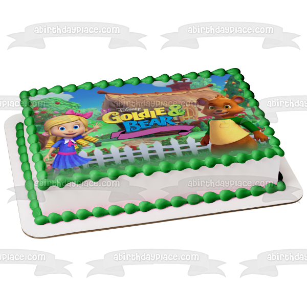 Disney Goldie and the Bear Trees Picket Fence Cottage Edible Cake Topper Image ABPID06645