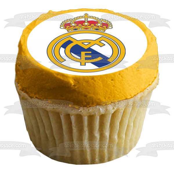 Real Madrid C.F. Club De Futbol Spanish Football Logo Edible Cake Topper Image ABPID06694