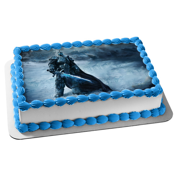 World of Warcraft 5k Lich King Mountains Edible Cake Topper Image ABPID07112