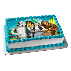 The Wizard of Oz Dorothy the Cowardly Lion Tin Man Scarecrow Emerald City Edible Cake Topper Image ABPID06715