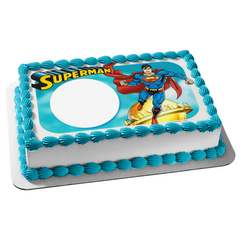 DC Comics Superman Personalize Edible Cake Topper Image ABPID07117