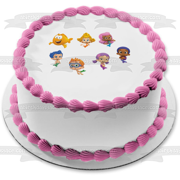 Bubble Guppies Log Gil Molly Deema Goby Oona Nonny Edible Cake Topper Image ABPID06787