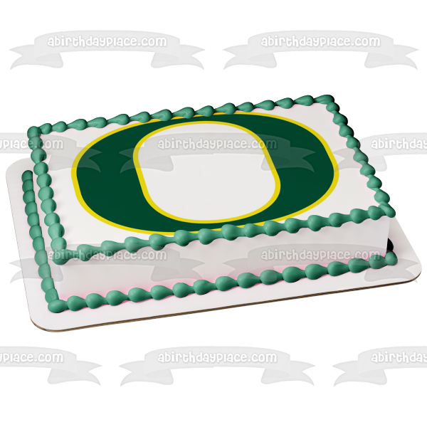 University of Oregon Ducks Logo NCAA Edible Cake Topper Image ABPID06872