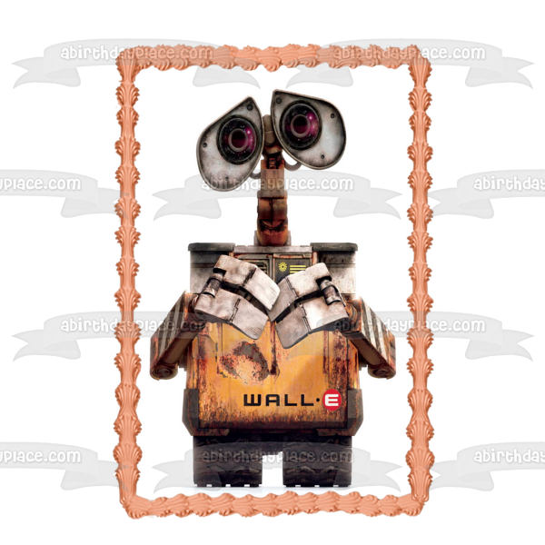 Disney Wall-E White Background Edible Cake Topper Image ABPID07299