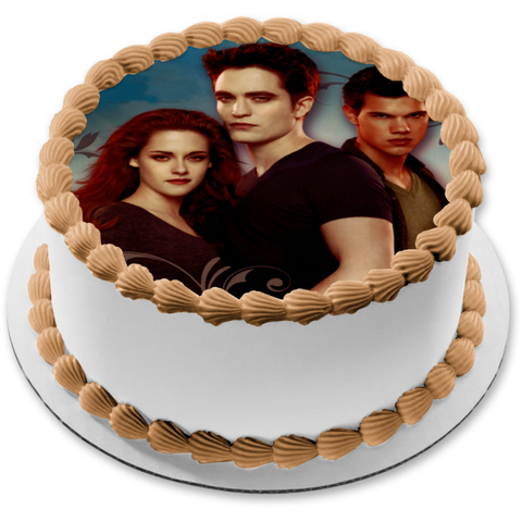 Twilight Bella Swan Edward Cullen Jacob Black Edible Cake Topper Image ABPID06888