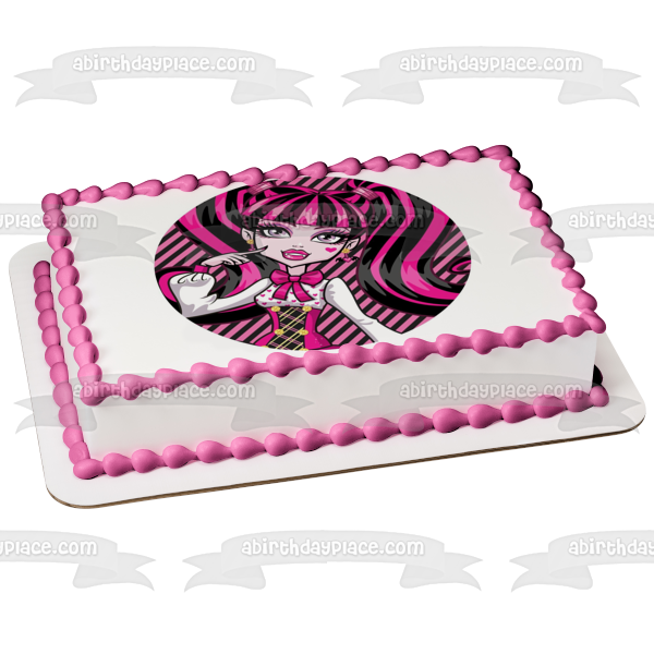Monster High Draculaura Bat Edible Cake Topper Image ABPID06899