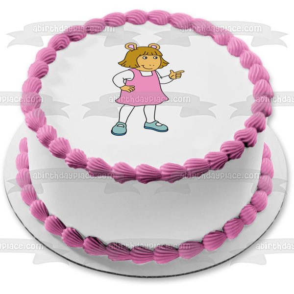 Arthur Dw White Background Edible Cake Topper Image ABPID07409