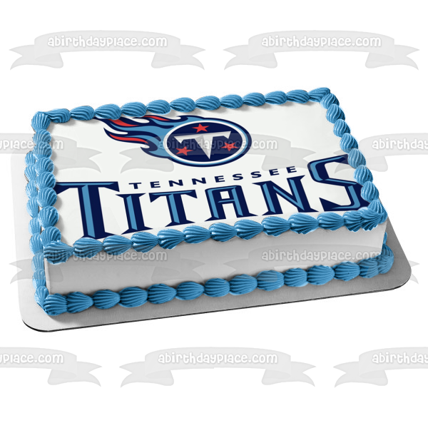 The Tennessee Titans Logo NFL National Football League Edible Cake Topper Image ABPID07665