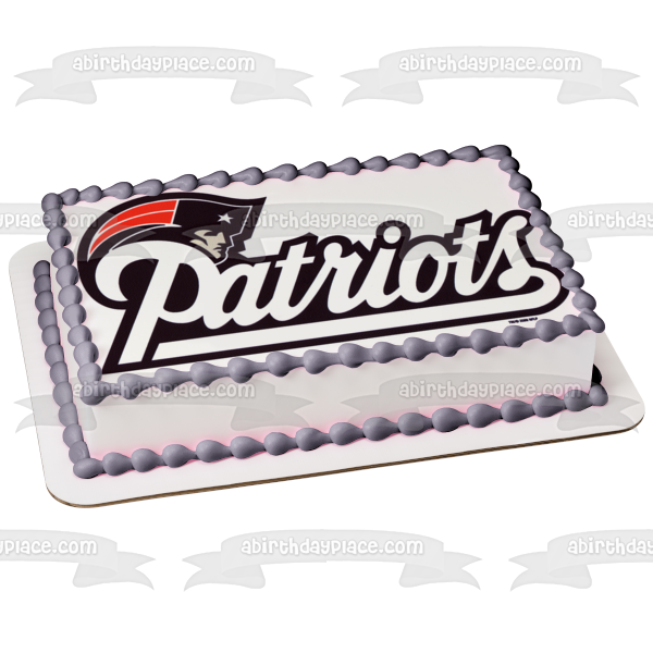 New England Patriots Logo NFL National Football League Edible Cake Topper Image ABPID07484
