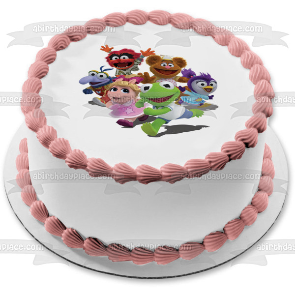 Muppet Babies Kermit Miss Piggy Gonzo Animal Fozzie Bear Summer Edible Cake Topper Image ABPID07510