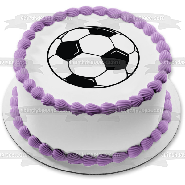 Soccer Ball Edible Cake Topper Image ABPID07757