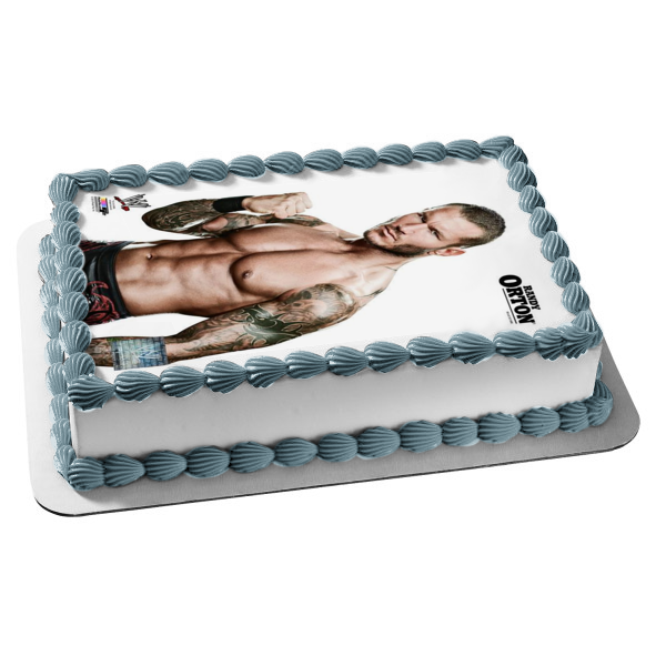 WWE World Wrestling Entertainment Randy Orton Edible Cake Topper Image ABPID07765