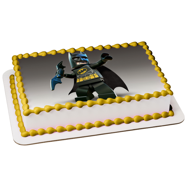 The LEGO Batman Movie Bruce Wayne Edible Cake Topper Image ABPID07787