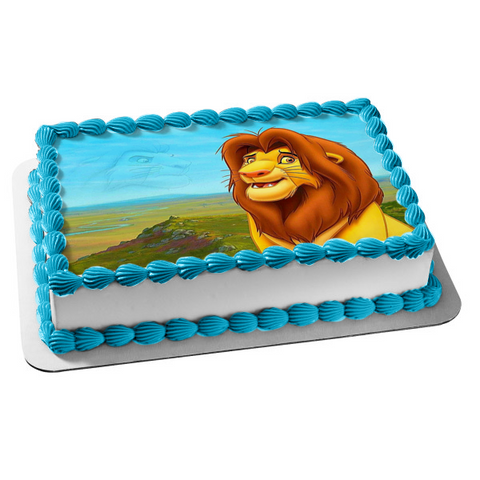 Disney The Lion King Mufasa Edible Cake Topper Image ABPID08000