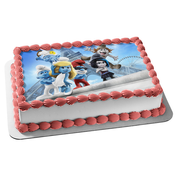 The Smurfs 2 Papa Smurf Smurfette Grouchy Smurf Vanity Smurf Vexy Hackus Edible Cake Topper Image ABPID07885