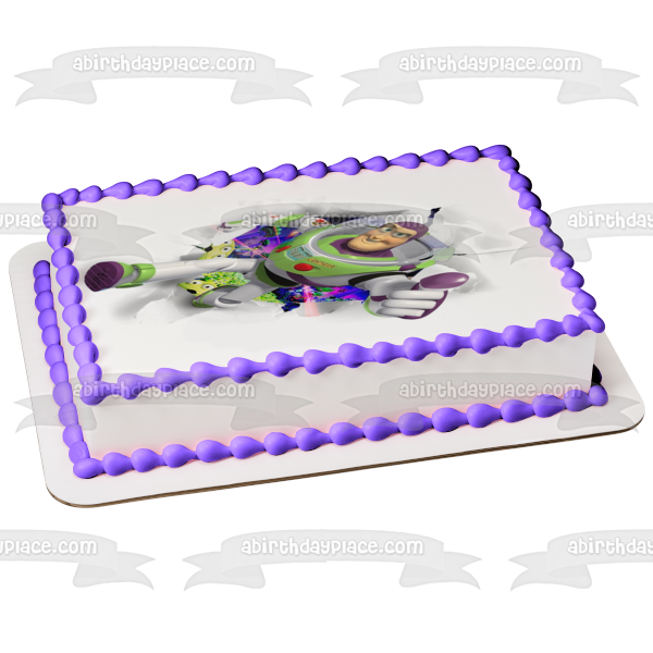 Edible rice paper round 20cm buzz lightyear cake topper