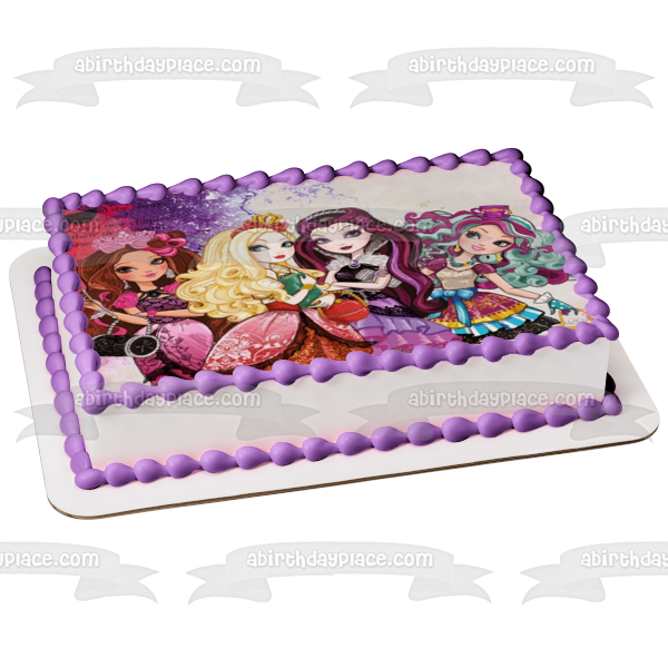 Monster High Clawdeen Wolf Lagoona Blue Draculaura Edible Cake Topper Image ABPID09001