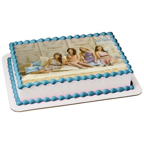 Pretty Little Liars Aria Montgomery Hanna Marin Emily Fields Spencer Hastings Edible Cake Topper Image ABPID09022