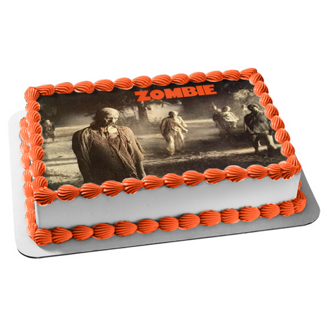 Zombies Halloween Edible Cake Topper Image ABPID08958