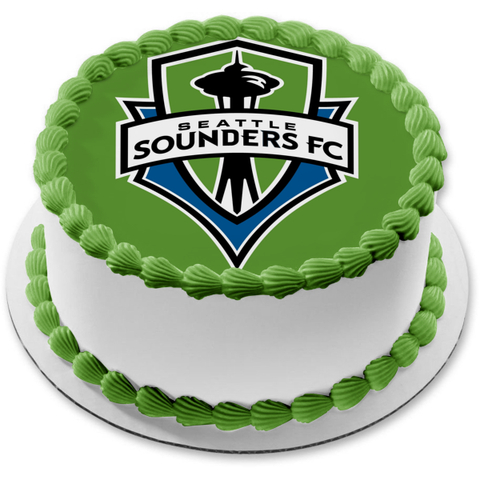 Seattle Sounders Fc Soccer Club Edible Cake Topper Image ABPID00185