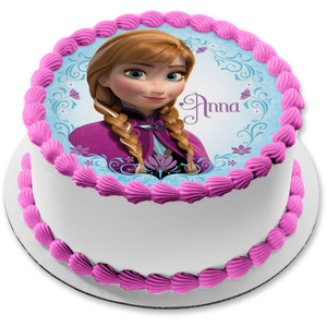 Disney Frozen Anna Braids Edible Cake Topper Image ABPID00668