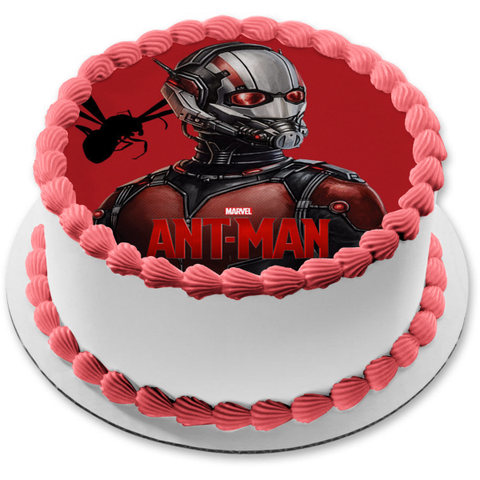 Marvel Ant-Man Flying Ant Red Background Edible Cake Topper Image ABPID00867