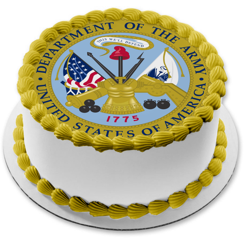 Department of the Army This We'll Defend Edible Cake Topper Image ABPID04080
