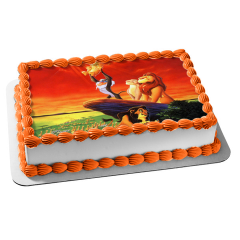 Disney The Lion King Simba Presented Edible Cake Topper Image ABPID09263