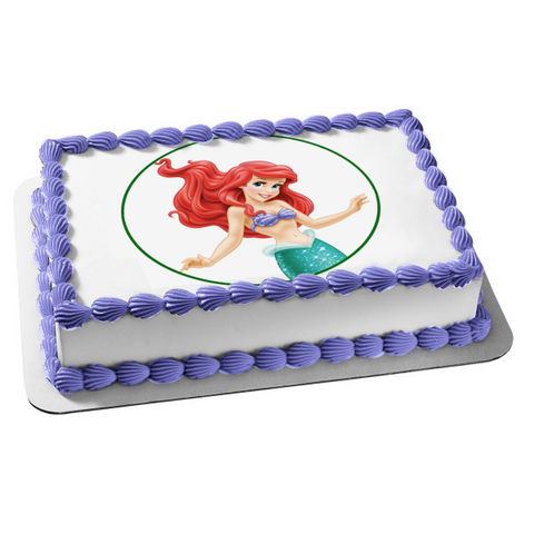 Disney the Little Mermaid Ariel Edible Cake Topper Image ABPID11495
