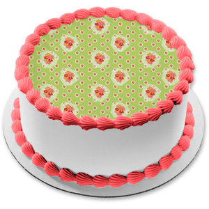 Flowers Red Pink Orange Green Background Edible Cake Topper Image ABPID13105