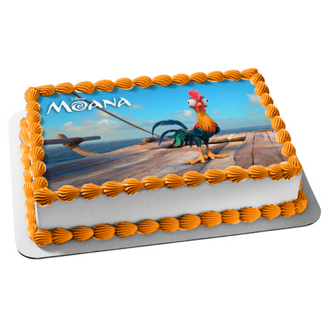 Disney's Moana Rooster Heihei Edible Cake Topper Image ABPID15000