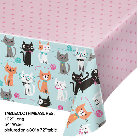 Purr-Fect Party Plastic Table Covering