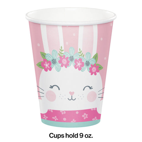 Pink Birthday Bunny Printed Cups