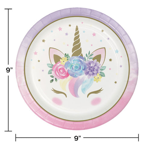 Unicorn Baby Party Plates
