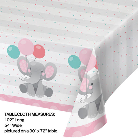 Pink Enchanted Elephant Table Covering