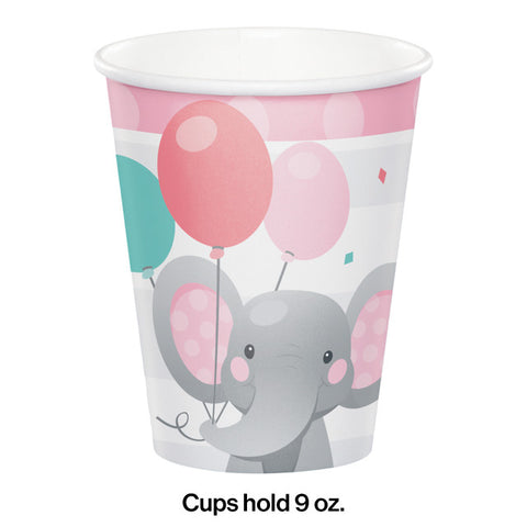 Pink Enchanted Elephant Printed Cups