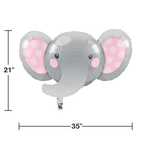 Pink Enchanted Elephant Metallic Balloon