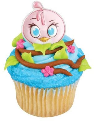 Angry Birds Stella Cupcake Rings (12 pieces)