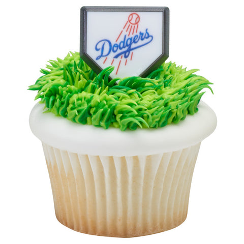 MLB® Home Plate Team Logo Cupcake Rings - Los Angeles Dodgers (12 pieces)