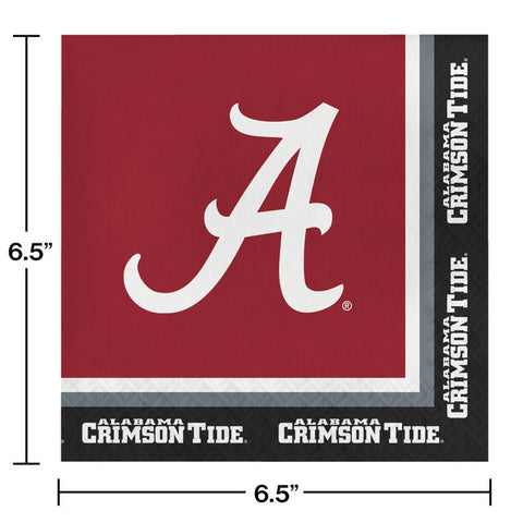 University of Alabama Luncheon Napkins