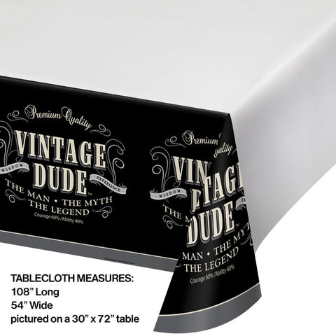 Vintage Dude Table Covering
