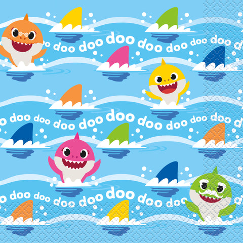 16 Baby Shark Luncheon Napkin